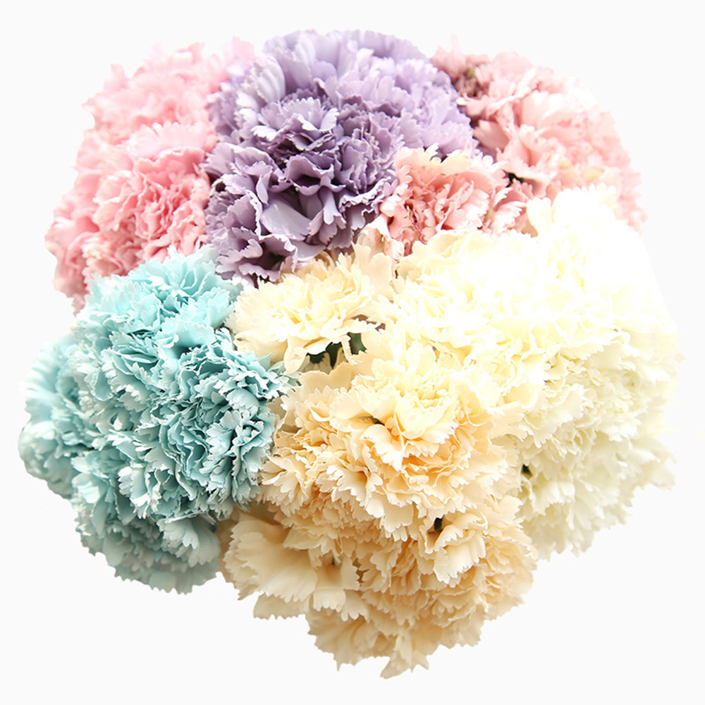 Artificial Silk Carnation Simulation Flowers Home Decoration Wedding Festival Wall Artificial Flowers Mother s Day Gifts