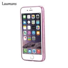 Laumans бампера диаманта Bling Rhinestone каркас алюминиевый бампер протектор для iPhone 5 5S 6 6S крышка Аксессуары; Бесплатная доставка