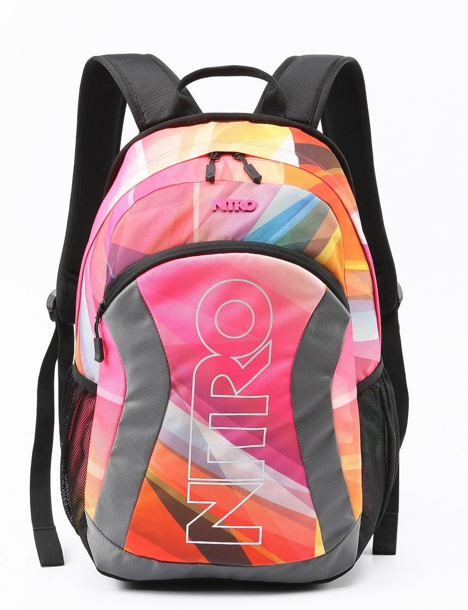 ФОТО EURO STYLE PATTERN NITRO LAPTOP RUCKSACK WOMEN BAG FASHION BACKPACK HIGH QUALITY EMBROIDERY SCHOOL BAG 47*35*18CM