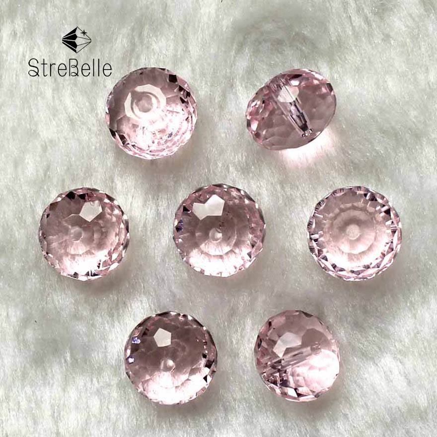 Top AAA Grade AB Color 10x14MM 15 piece/lot Faceted Bead Crystal Glass Big Rondelles Beads for DIY Jewelry Making Free Shipping ...