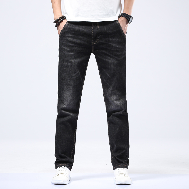 Utmeon Brand New   Jeans   Men's 2019 Loose Straight Elastic   Jeans   Anti-theft Zipper Denim Pants Male