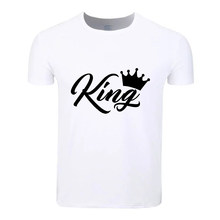 Princess King Queen Fashion Cotton Big Size Students Summer T-Shirt Short Sleeve Men Women Boys Girls T Shirt Tees Kids Tshirt()
