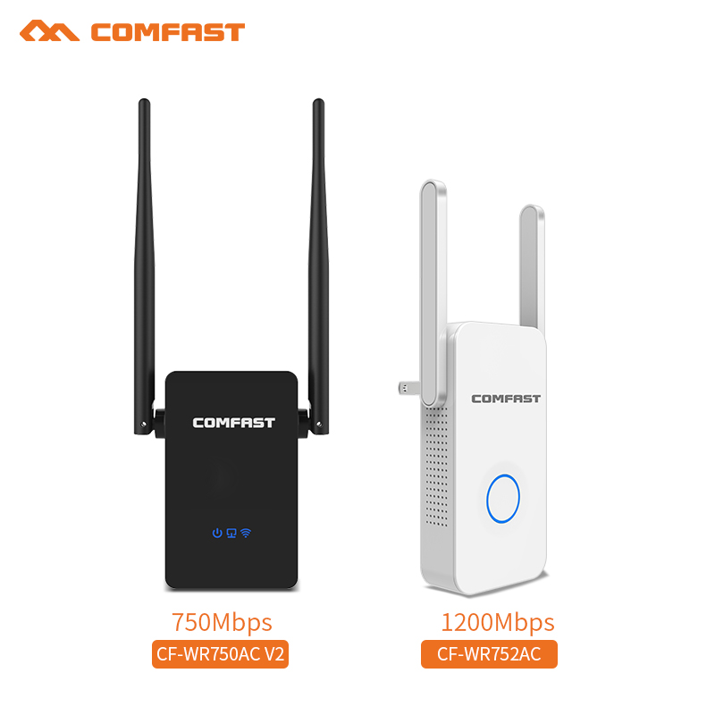 Comfast 1200Mbps Gigabit WiFi Repeater & 750Mbps 802.11ac WiFi Range Extender WIFI ROUTER Antennas 5.8Ghz Wi fi Signal Amplifer