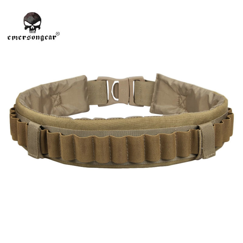 Emersongear GEAR Shotgun Shell Belt Round Neoprene Camo Shotshell Belt Shot Belt Hunting Belt Waist Support