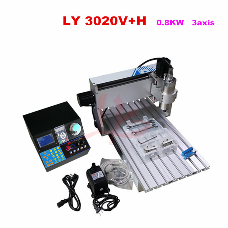EU tax free 3020 cnc router machine price 0.8KW water cooled spindle 3 axis  for wood hobby russia tax free cnc router 3040f 4 axis metal wood plastic cnc milling machine with water cooled spindle 1500w