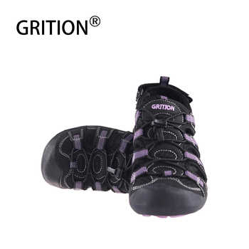 GRITION Women Outdoor Flat Sandals Summer Beach Walking Sandals Quick Dry Purple Slip On Toecap Sandals High Quality EURO Size