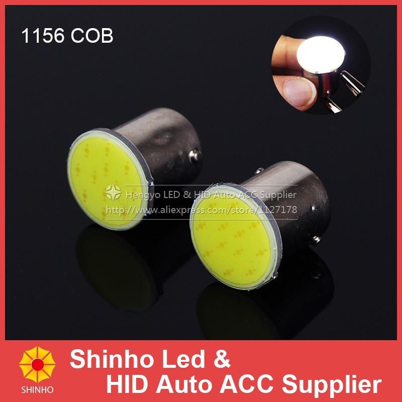 10pcs Super Bright S25 1156 led COB 12SMD 1156 BA15S P21W Auto Car Signal Reverse Led Lights White 12V Auto Led