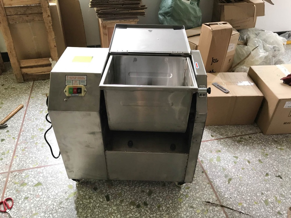 Free Shipping 110V Meat Mixer 304 Stainless steel Bacon machine for Restaurant Flour mixer free shipping of 1pc hss 6542 full cnc grinded machine straight flute thin pitch tap m37 for processing steel aluminum workpiece