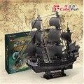 1: 95 Кубических Весело Головоломки 3d Черной Жемчужины Пираты Карибского моря Корабль модель T4018h Взрослый DIY Игрушки
