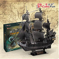 1:95 Cubic Fun Jigsaw Puzzle 3d Black Pearl Pirates Of The Caribbean Ship model T4018h Adult DIY Toys