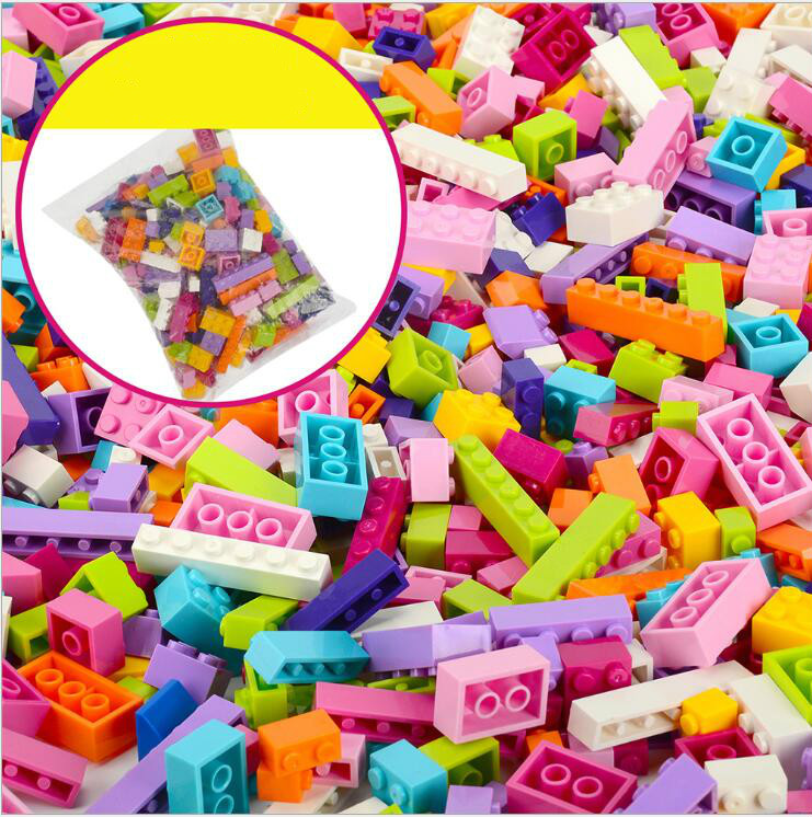 1000Pcs Building Blocks Kids Creative All DIY Bricks Sets Educational Toys For Children Compatible All Brands