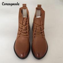 Careaymade просвет сделанные полностью вручную короткие сапоги