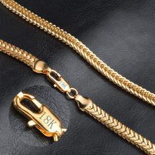 Modyle – collier doré pour hommes et femmes, chaîne à maillons, Long de 50cm, 6mm