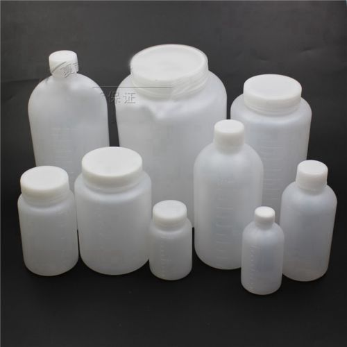 100-2000ML Plastic Wide Mouth Round Seal Liner Reagent Sample Bottle Graduation