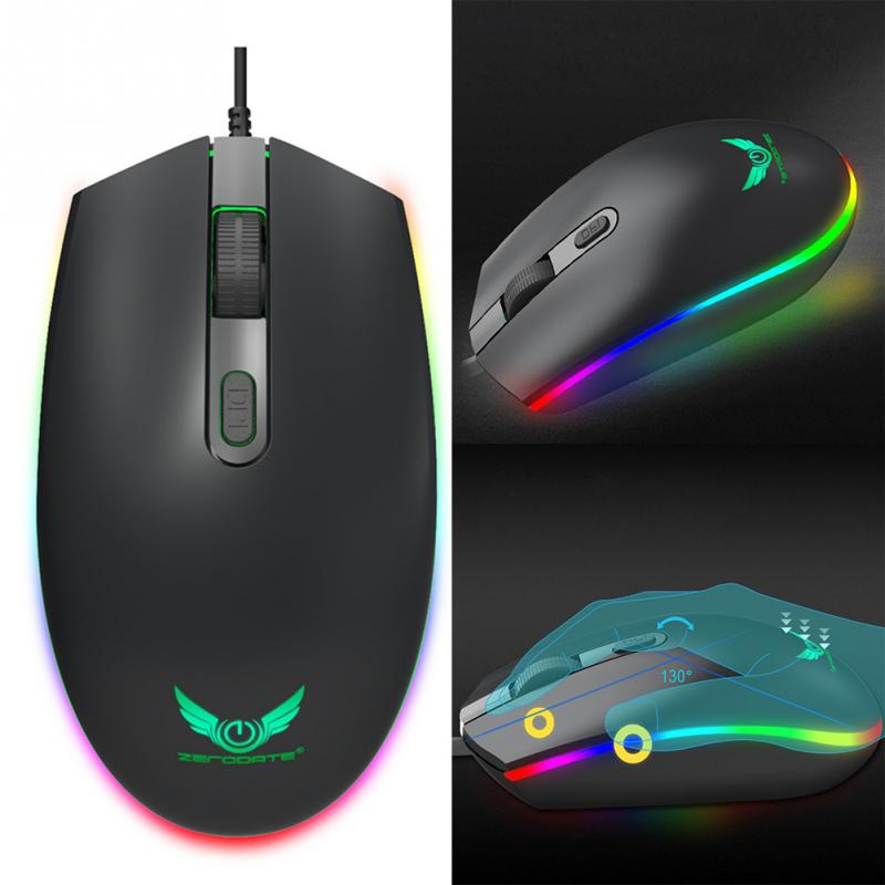 1600DPI S900 RGB LED Backlight Optical Ergonomic Mouse Gaming Mouse Computer 4 Buttons USB Wired Mouse Good for gamer sunsonny t m30 usb wired 6 button 600 1000 1600dpi adjustable led gaming mouse golden red