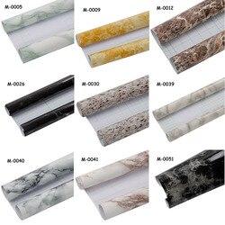 Folia marmurowa meble folia dekoracyjna wodoodporna naklejki ścienne dla kuchni Backsplash Home Decor 0.5x1.22m