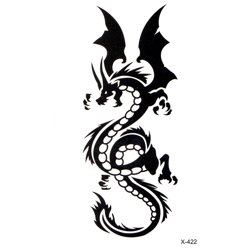 Dragon Totem Waterproof Temporary Tattoo Sticker Body Art Sexy Product  Water Transfer  DIY Body Art Beauty Makeup Tattoo