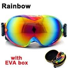 2016 ski goggles double Lens  ski mask glasses skiing men women snow snowboard goggles YH26