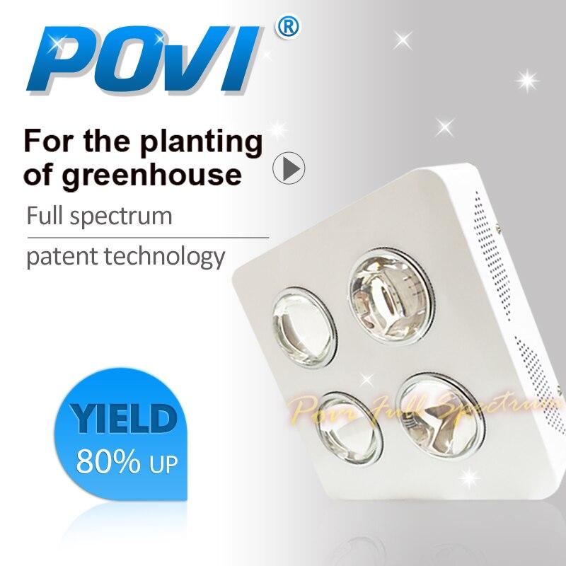 POVI Tam Spektrum 200W Işık Büyüyen Led Bitki Lambaları Büyümek ve Çiçeklenme İçin En İyi LED