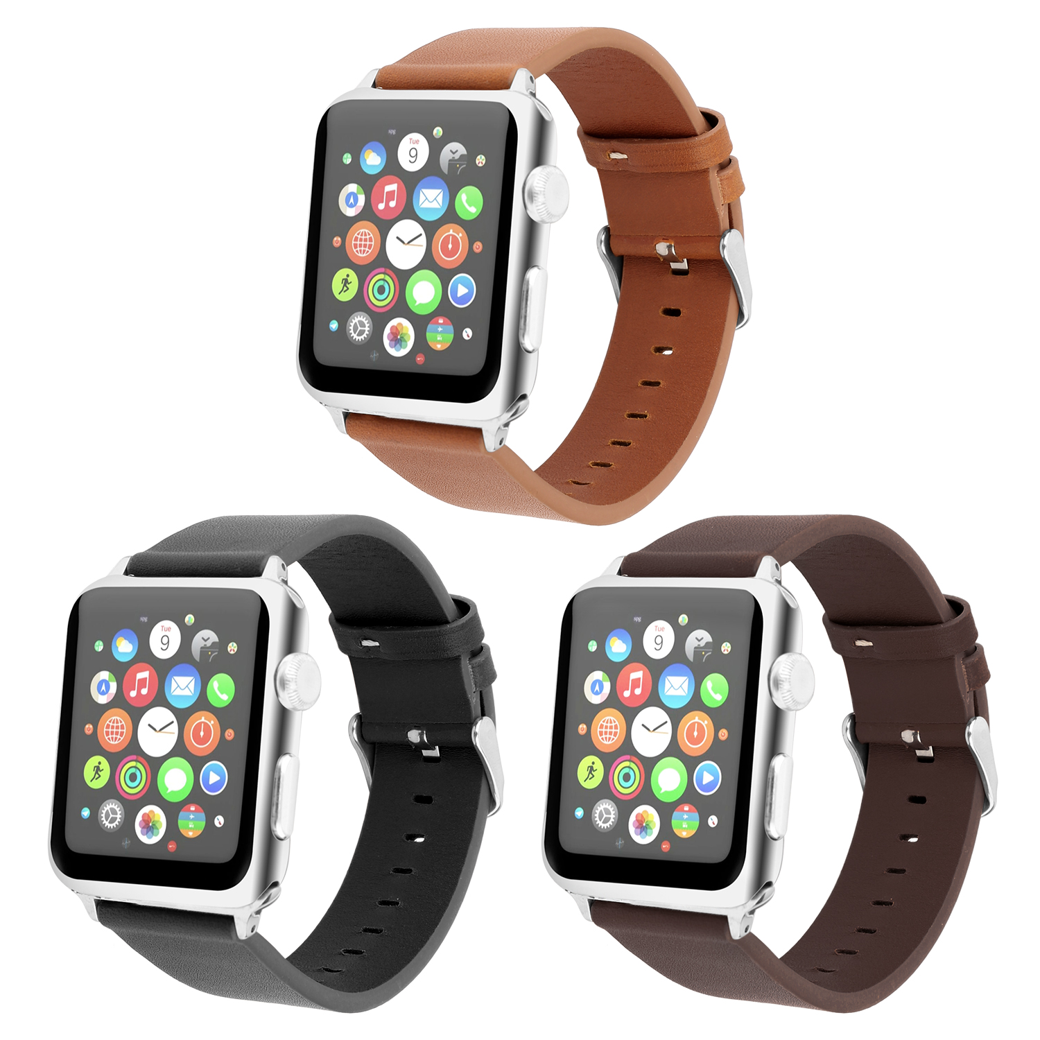 New cowhide Strap Fashion Band for apple watch series 3 2 1 strap for iwatch 38mm 42mm Bracelet smart Accessories Wrist luxury ladies watch strap for apple watch series 1 2 3 wrist band hand made by crystal bracelet for apple watch series iwatch