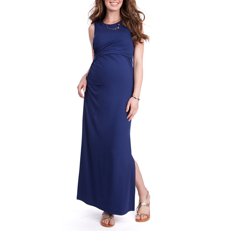 Party Maternity Clothes Long Maternity Dresses Pregnancy Clothes for Pregnant Women Nursing Dress Breastfeeding Vest Vestidos new party pregnant coat lace long pregnant breastfeeding dresses for women nursing dress hot selling