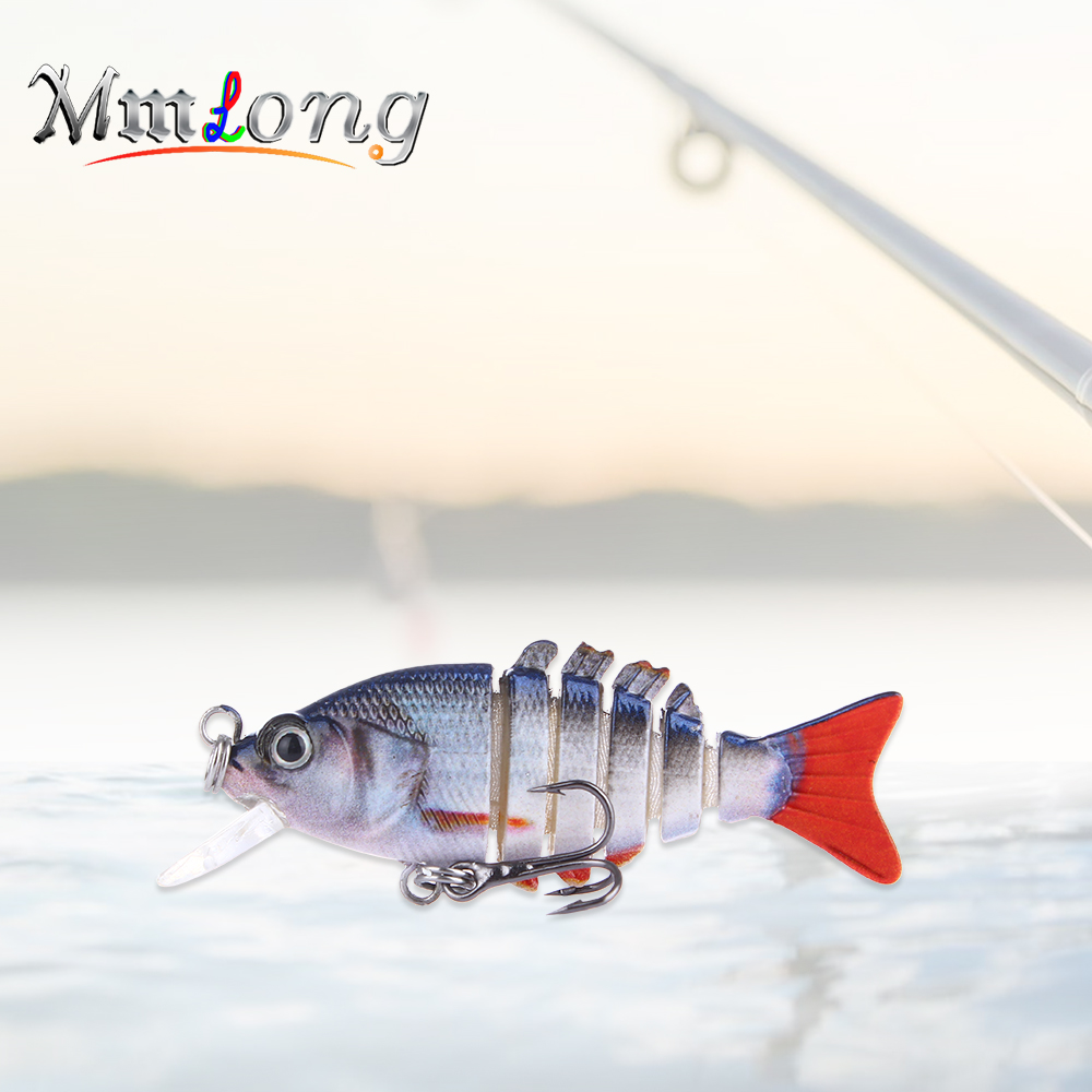 Mmlong 5.3cm Small Segment Lure Artificial Bait AL13-M 2.1g Plastic Fish Jointed Swimbait Pike Lures Fishing Wobblers Pesca crazy fish 1x jointed lure swimbait pike bass bait sinking minnow 95mm 11 5g