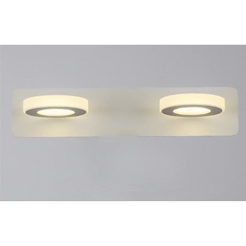 Bathroom Light Fixtures Led 10W Acrylic Round Bath Wall Bathroom ...