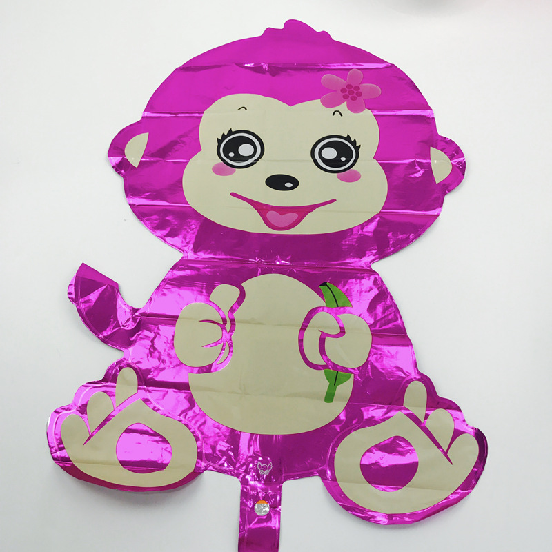1pc 7550cm Lovely Monkey Foil Balloons Cartoon Animals Helium For Baby Shower Birthday Party Decoration Kids Toys In Ballons Accessories From