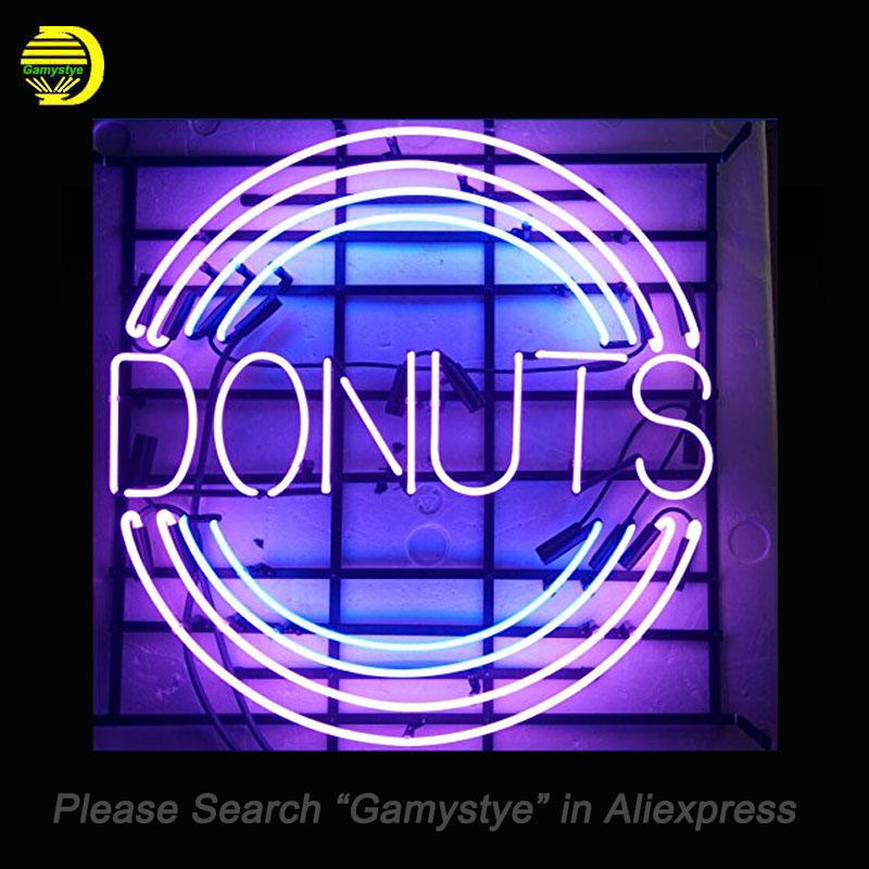Neon Sign For Donuts unique neon sign art Handcrafted Real glass supplied for a wide range of Restaurant Room Display Decorate