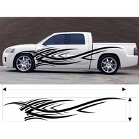 JDM Car Stickers and Decals Big 250CM Whole Body Fir Flame Car Sticker Styling Decal Vinyl Decor Car Body Cover Car Refitting