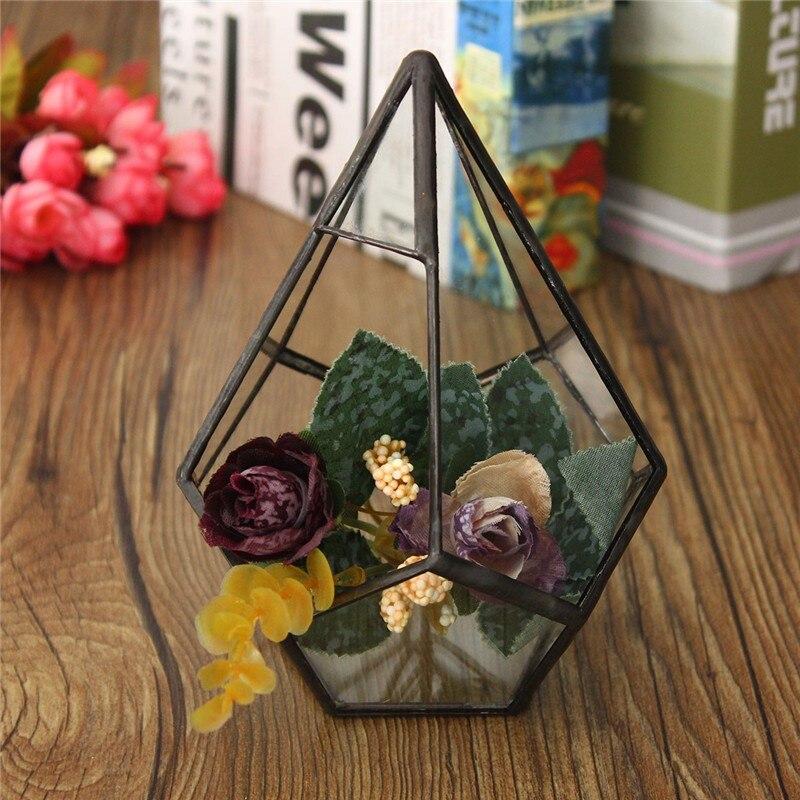 Hot Selling Modern Irregular Glass Geometric Terrarium Box Tabletop Succulent <font><b>Plant</b></font> Planter for Home Garden Glass Crafts Decor