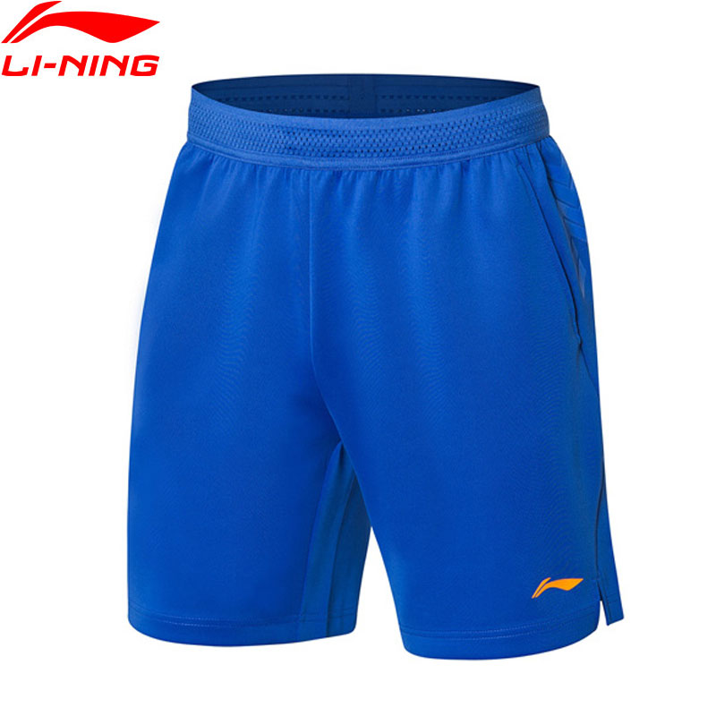 Li Ning Men Badminton Competition Shorts National Team Regular Fit AT DRY BASE LiNing Professional Sports