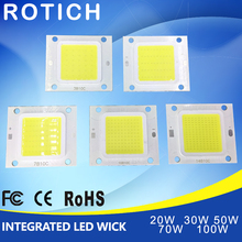 цена на High Power Epistar COB LED Chip 20W 30W 50W 70W 100W DC 30V-32V Integrated SMD For Floodlight Spotlight Warm White /White