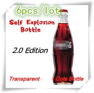 Self Explosion Bottle 2.0 Edition Magic Tricks Glass Stage Magic Illusions Professional Magician Props Accessories,Comedy,Joke