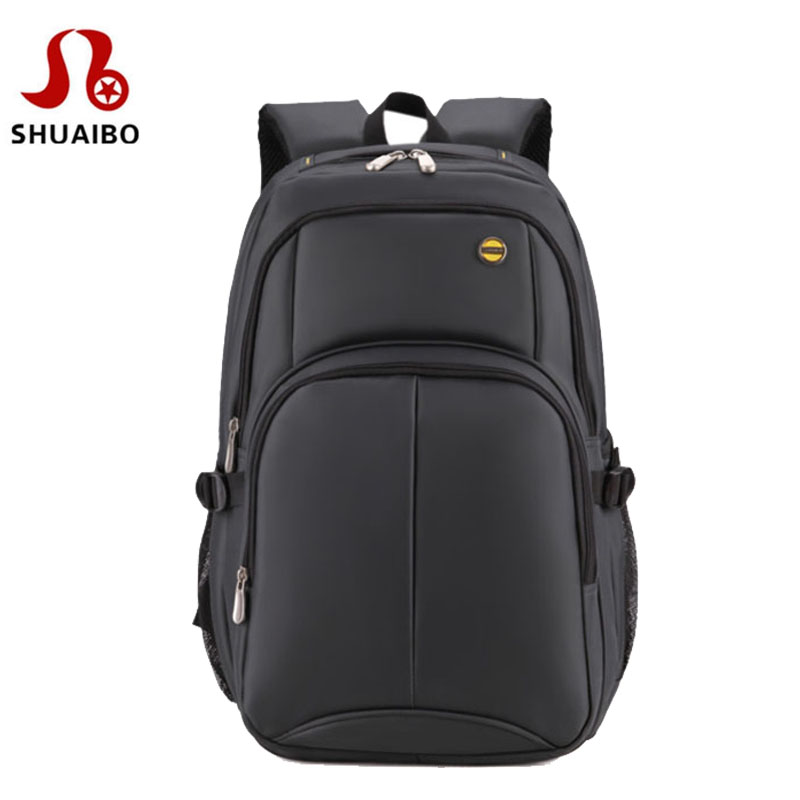 SHUAIBO brand Business backpack for men shockproof 16 inch computer bags Travel for men and women college notebook bag backpacks 14 15 15 6 inch flax linen laptop notebook backpack bags case school backpack for travel shopping climbing men women
