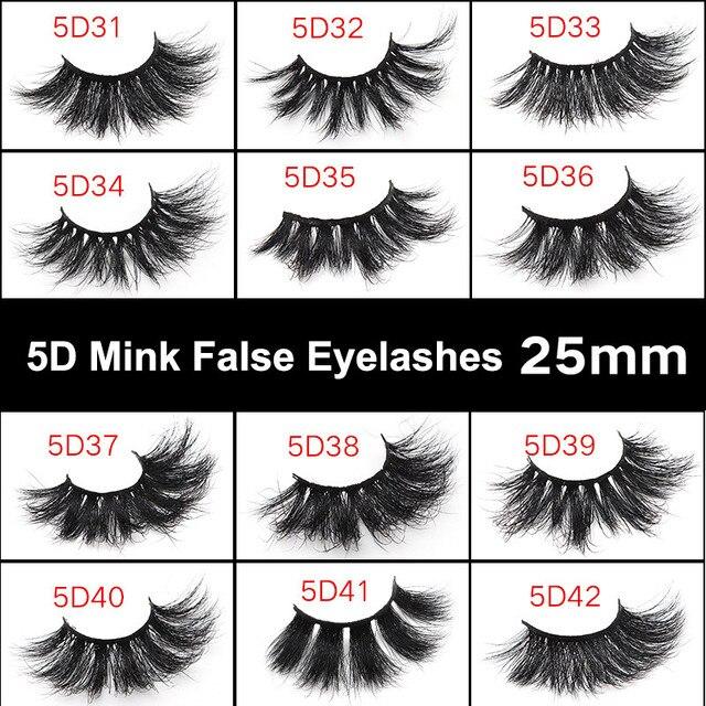 1 Pair 25mm False Eyelashes Thick 5D Mink Lashes Makeup Dramatic Long Lashes @ME88 5