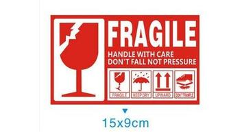 500pcs  FRAGILE/KEEP DRY/UPWARD/DO NOT TRAMPLE stickers label for care handle label packing caution stickers 9x15cm