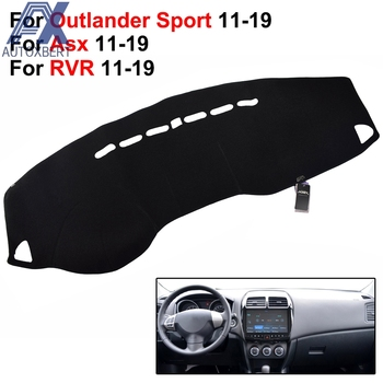 AX Dashmat mata na deskę rozdzielczą Dash pokrowiec deski pasuje do Mitsubishi Outlander Sport ASX RVR 2011 #8211 2018 Pad parasol przeciwsłoneczny deska rozdzielcza pokrowiec deski dywan tanie i dobre opinie AUTOXBERT Naturalne Włókno