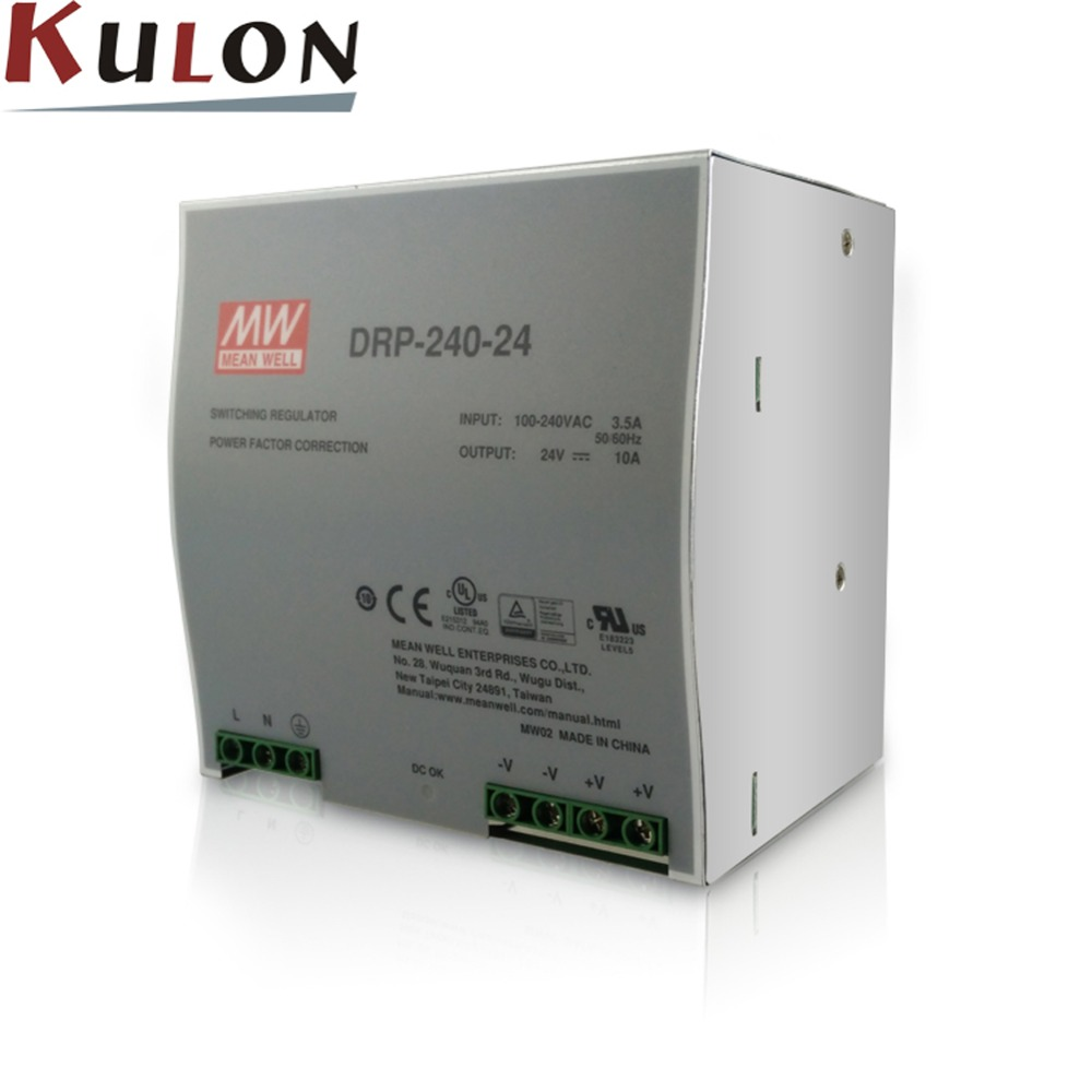 все цены на Original Meanwell DRP-240-24 240W 24V 10A Single Output Industrial DIN Rail Power Supply онлайн