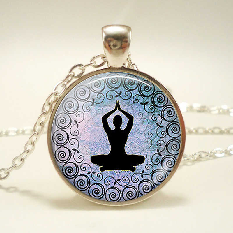Luân Xa Biểu Tượng Mặt Dây Chuyền. Luân Xa Biểu Tượng Ký Vòng Cổ. Kính Cabochon Phật Giáo Ấn Độ Trang Sức Nữ