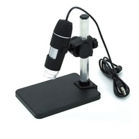 8 LED Lights Illuminant 1X-500X USB Zoom Camera Magnifier Portable Digital Video Microscope with Stand
