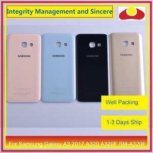 Image 1 - 50 Pcs/lot pour Samsung Galaxy A3 2017 A320 A320F SM A320F boîtier batterie porte arrière couverture châssis coque