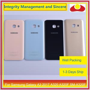 Image 1 - 50Pcs/lot For Samsung Galaxy A3 2017 A320 A320F SM A320F Housing Battery Door Rear Back Cover Case Chassis Shell