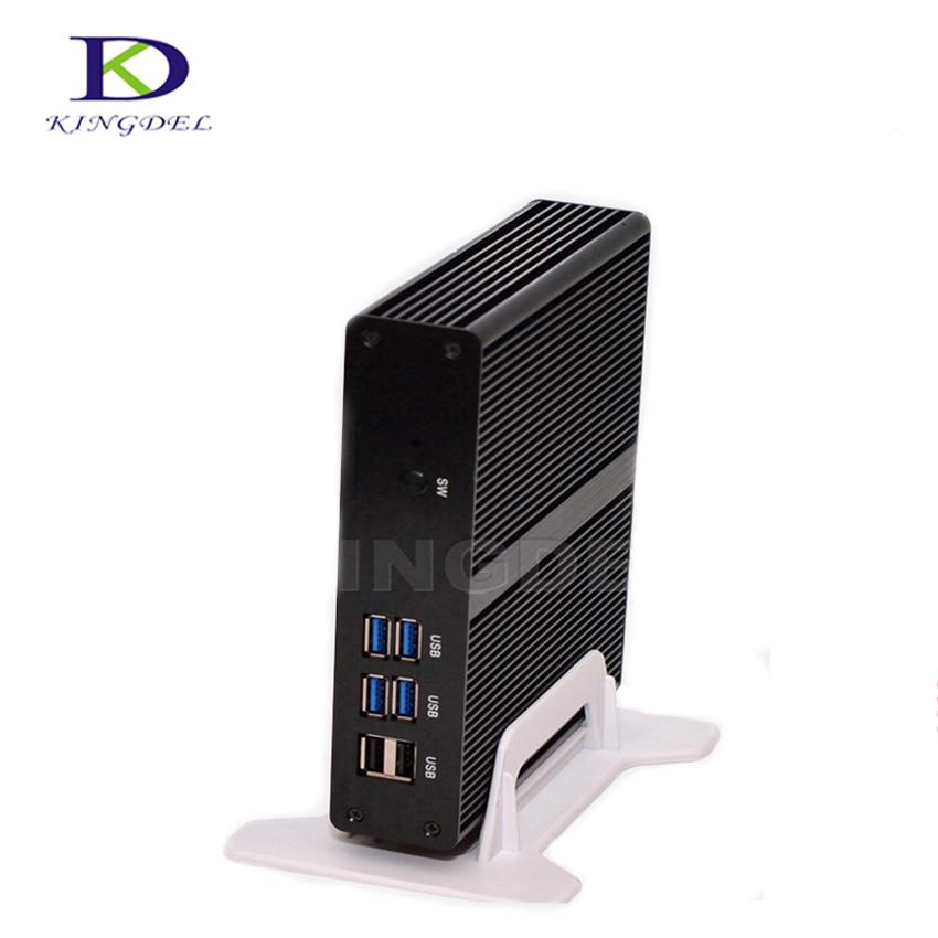 Small Desktop PC Intel Celeron 2980U Dual Core Mini Computer USB 3.0 WiFi HDMI VGA LAN Linux PC Windows 10