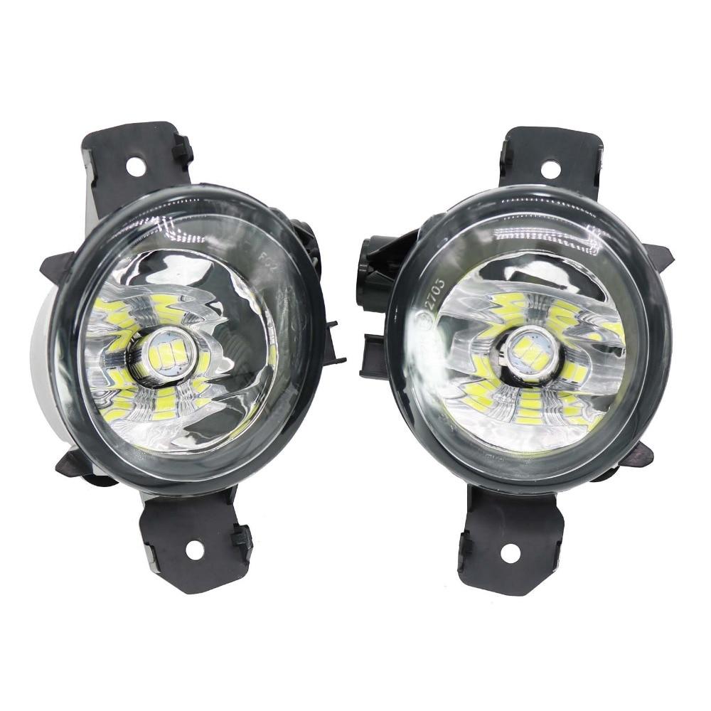 2Pcs Car LED For BMW E84 X1 2009 2010 2011 2012 2013 2014 2015 LED Car Styling Front LED Fog Light Fog Lamp