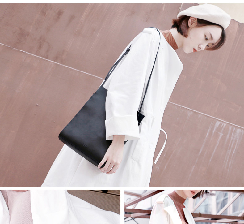 2018 New Women Tote Simple Fashion Female Sling Bag Genuine Leather (16)