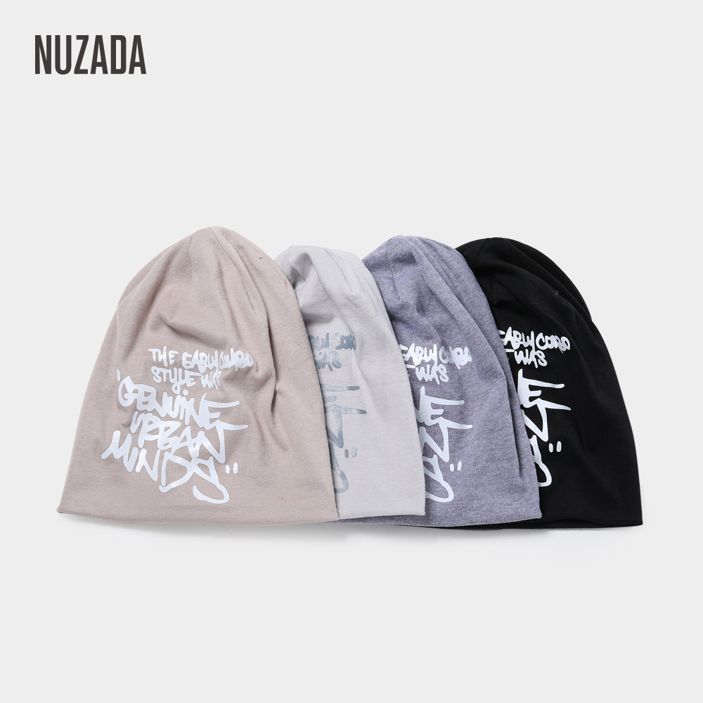 NUZADA Men Women   Skullies     Beanies   Knitted Caps Bonnet Hat Winter Autumn Double Layer Soft Cotton Keep Warm Neutral Couple Cap
