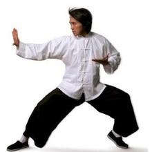 Китайский традиционный хлопковый костюм Тан с длинными рукавами Wu Shu Tai Chi Топ шаолин кунг-фу крыло chun рубашка костюмы боевые искусства рубашки