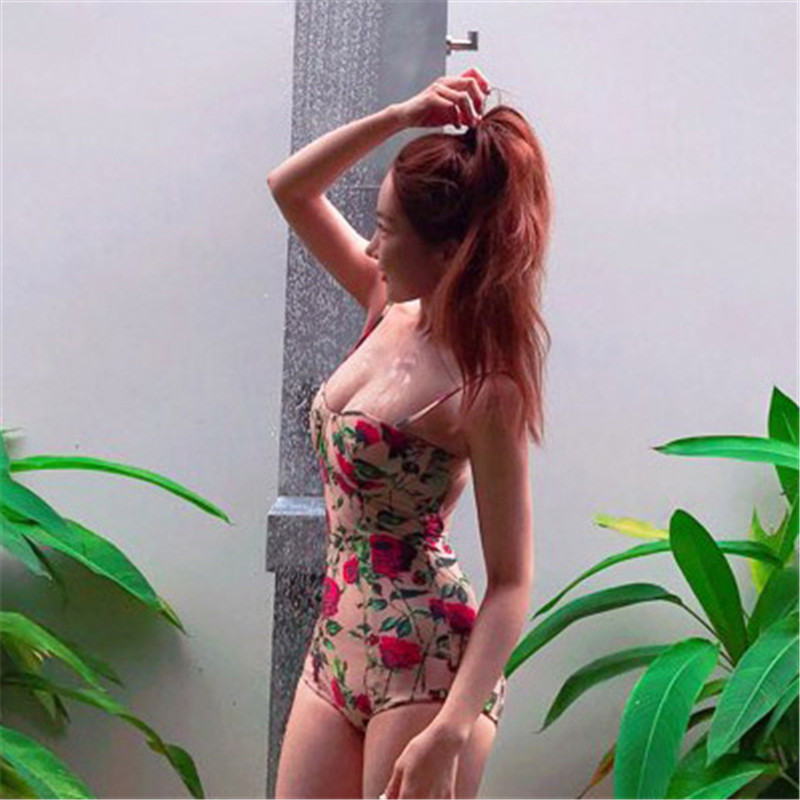 One Piece Swimsuit Swimwear Women Cheap Sexy Bathing Suits Lady Bikini 2017 Swim Suit New Retro Barbed Rose Underwire Maillot De one piece swimsuit swimwear women cheap sexy bathing suits lady bikini 2017 may beach girls korea push up skirt maillot de bain