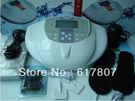 xbalamque spa and resort 4 п ов юкатан Hot! !4pcs/Lot Free and Fast Shipping Detox Foot Spa Machine Ion Cleanser Detox Machine with electric slipper
